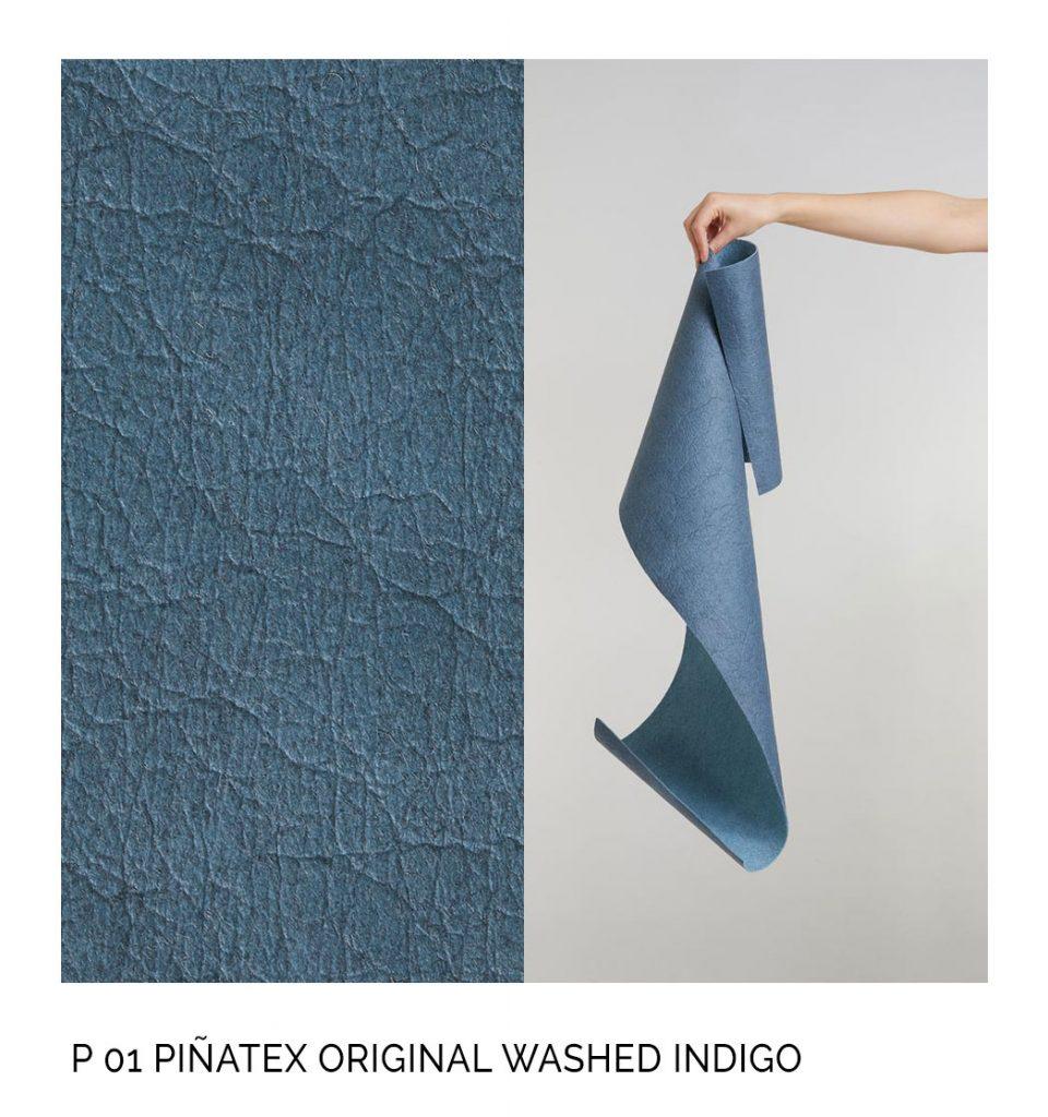 Pinatex original washed indigo